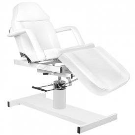 Fotel Kosmetyczny Hydrauliczny A 210D Z Kołyską Biały