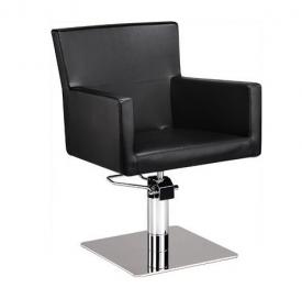 Fotel Fryzjerski Isadora Czarny Baza Kwadrat W 48h