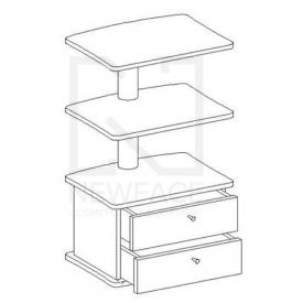 Stolik kosmetyczny 3 półki 2 szuflady TS #1