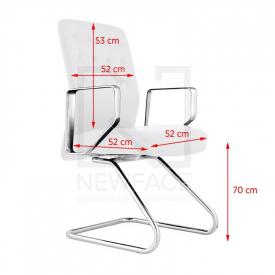 Fotel Kosmetyczny Rico 399 Biały #1