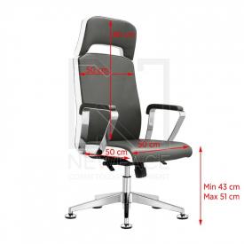 Fotel Kosmetyczny Rico A1501-1 Szaro-Biały #1