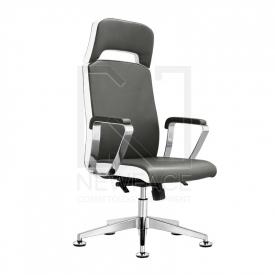 Fotel Kosmetyczny Rico A1501-1 Szaro-Biały #2