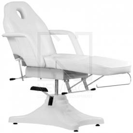 Fotel Kosmetyczny Hydrauliczny A 234 Biały #4