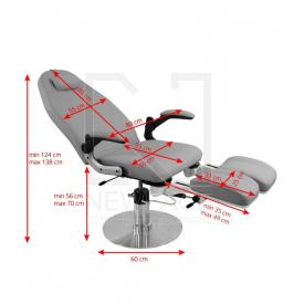 Fotel Podologiczny Hydrauliczny Azzurro 713A Szary #1