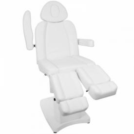 Fotel Kosmetyczny Elektr. Azzurro 708as Pedi 3 Siln. Biały #4