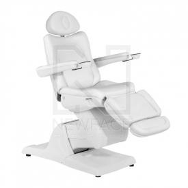 Fotel Kosmetyczny Elektryczny Azzurro 877 M Biały #1