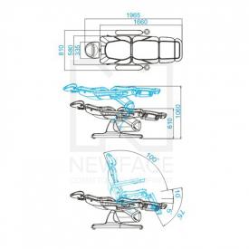 Fotel Kosmetyczny Elektryczny Azzurro 870 Cappuccino #2
