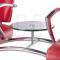 Krzesło do poczekalni LIVIO czerwone BD-6709(1003) #4
