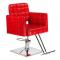 Fotel fryzjerski Bruno czerwony BM-207 #1