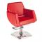 Fotel fryzjerski NICO czerwony BD-1088 #1