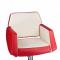 Fotel fryzjerski NICO czerwony-kremowy BD-1088 #3