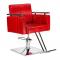 Fotel fryzjerski Simone czerwony BM-204 #1