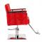 Fotel fryzjerski Simone czerwony BM-204 #4