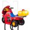 Dziecięcy fotel fryzjerski Moto BW-604 czerwony #1