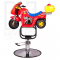 Dziecięcy fotel fryzjerski Moto BW-604 czerwony #3