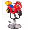 Dziecięcy fotel fryzjerski Moto BW-604 czerwony #5