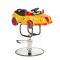 Dziecięcy fotel fryzjerski Autko BW-602 żółty #1