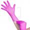 Jednorazowe Rękawiczki Różowe Nitrylowe Xs #1