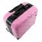 Kufer Kosmetyczny Glamour 9302-2 Różowy (Przenośne Stanowisko) #4