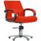 Fotel Fryzjerski Milano Czerwony #1