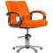 Fotel Fryzjerski Milano Pomarańczowy #1