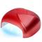 Lampa Twister Uv Dual Led 36w Timer + Sensor Czerwona #1
