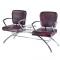Krzesło do poczekalni LIVIO brązowe BD-6709(1003) #4