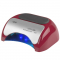 Lampa Professional 2w1 UV LED+CCFL 48W Timer+Sensor Czerwona #1