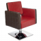 Fotel Fryzjerski Ernesto Czerwono-Brązowy BM-6302 #1