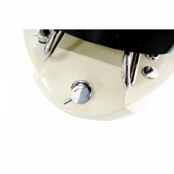 Fotel do pedicure Spa TS-1204 Czarny Z Funkcją Masażu #4