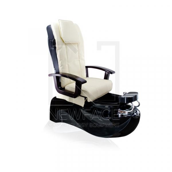 Fotel do pedicure Spa TS1204 Ecru/Black Z Funkcją Masażu #1