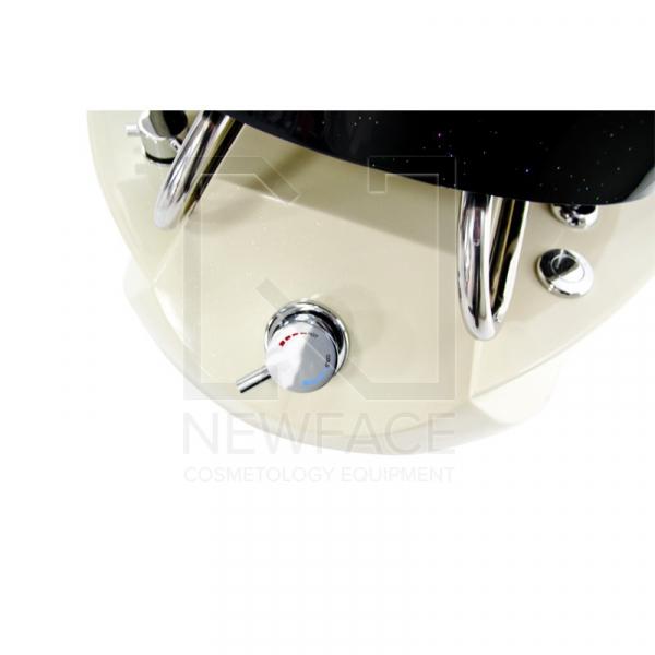 Fotel do pedicure Spa TS1204 Ecru/Black Z Funkcją Masażu #4