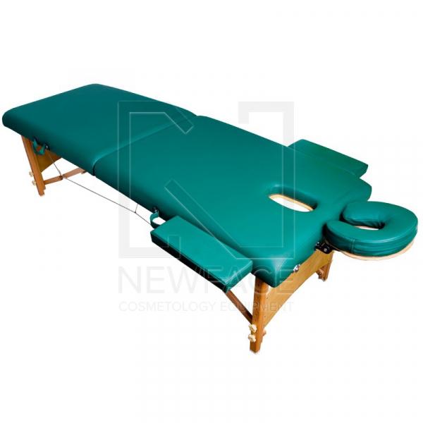 Stół Składany Do Masażu Komfort Wood AT-007R Green #1