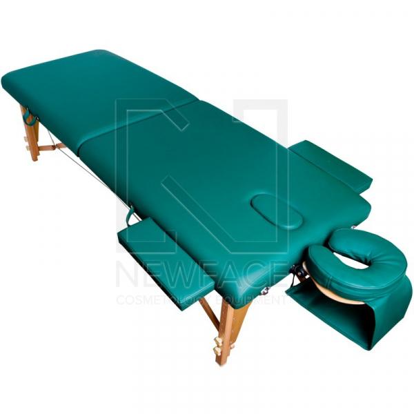 Stół Składany Do Masażu Komfort Wood AT-007 Green #1