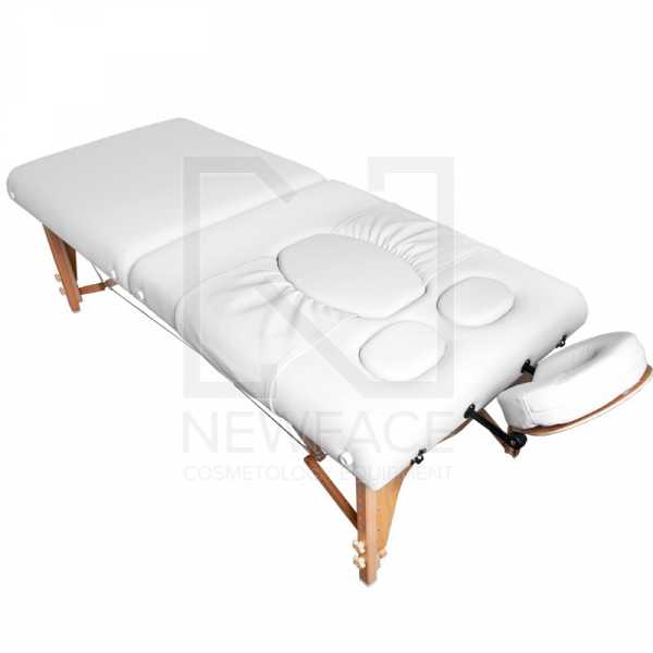 Stół Składany Do Masażu Komfort Wood AW-002 White #1