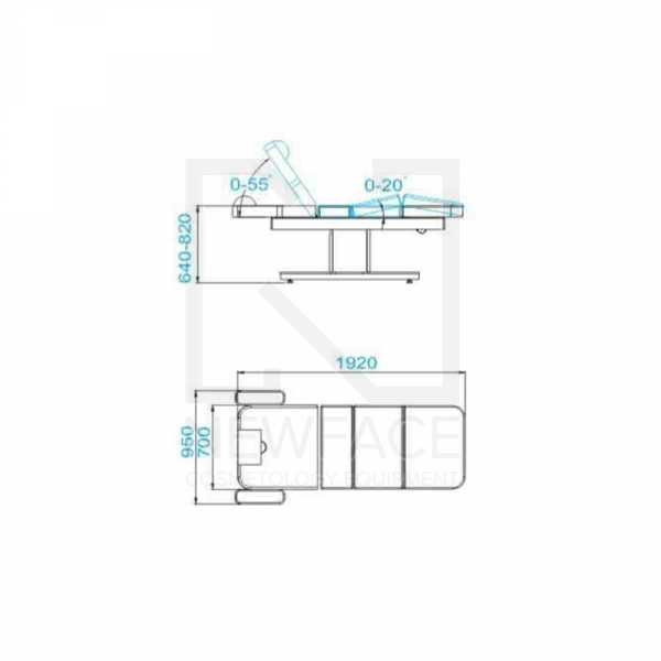 Spa Leżanka Kosmetyczna Azzurro 805 Venge/Latte #2