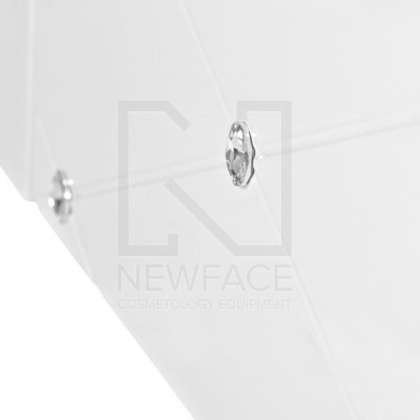 Spa Leżanka Kosmetyczna Azzurro Krystal 370-3 Biała #5
