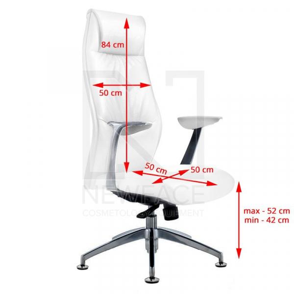 Fotel Kosmetyczny Rico 184 Biały #2