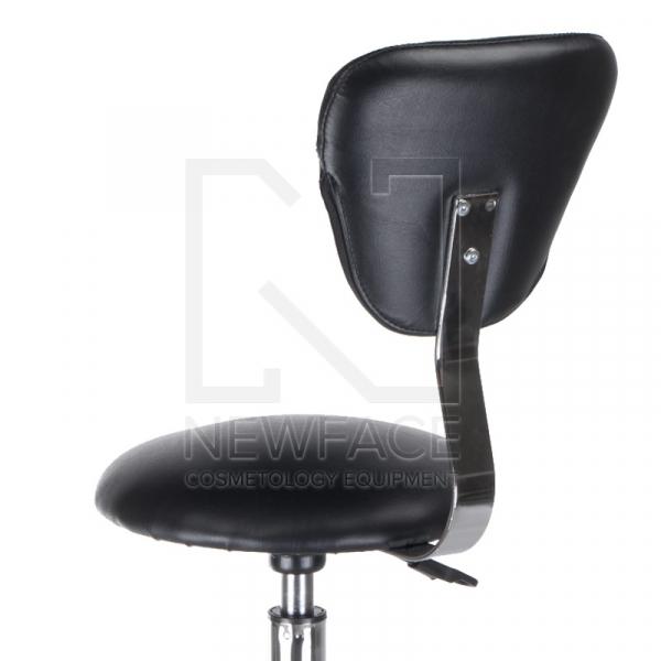 Taboret kosmetyczny z oparciem BH-9226 czarny #2