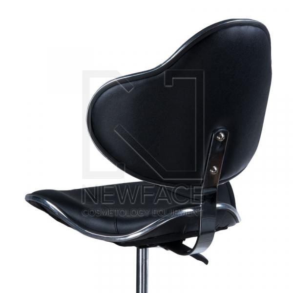 Taboret kosmetyczny z oparciem BD-9933 Czarny #3