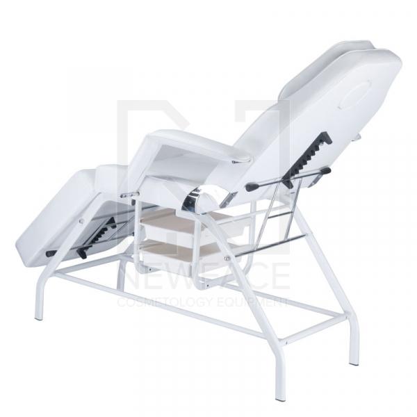 Fotel kosmetyczny z kuwetami BW-262 biały #4