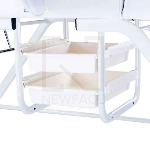 Fotel kosmetyczny z kuwetami BW-262 biały #5