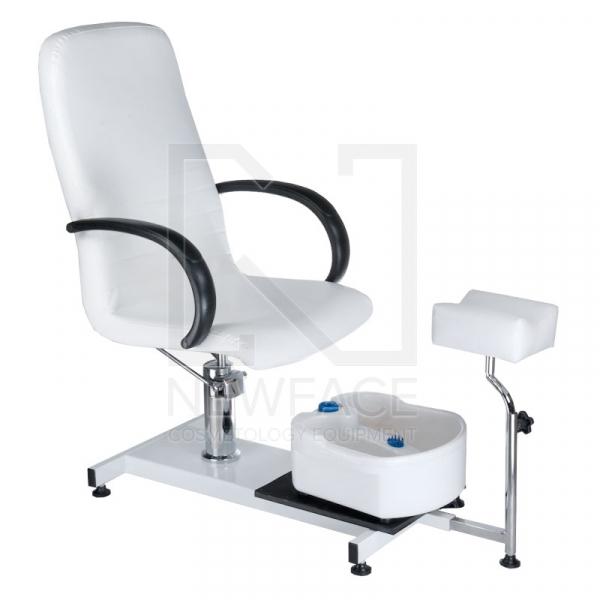 Fotel Do Pedicure Z Masażerem Stóp BW-100 Biały #1