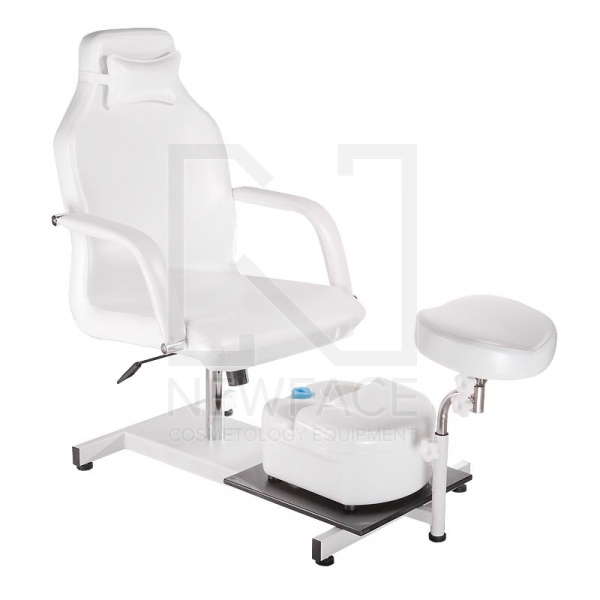 Fotel do pedicure z masażerem stóp BD-5711 biały #1