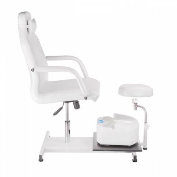 Fotel do pedicure z masażerem stóp BD-5711 biały #5
