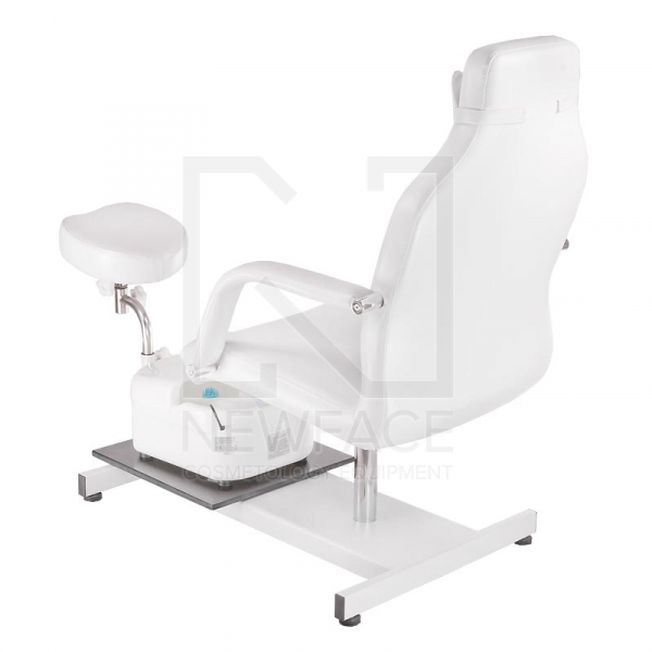 Fotel do pedicure z masażerem stóp BD-5711 biały #7