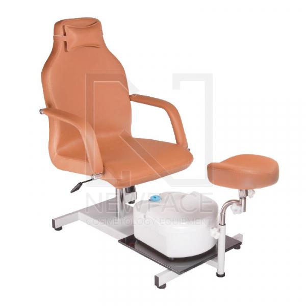 Fotel do pedicure z masażerem stóp BD-5711 beżowy #1