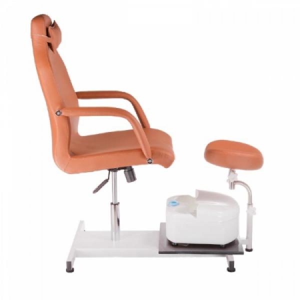 Fotel do pedicure z masażerem stóp BD-5711 beżowy #5
