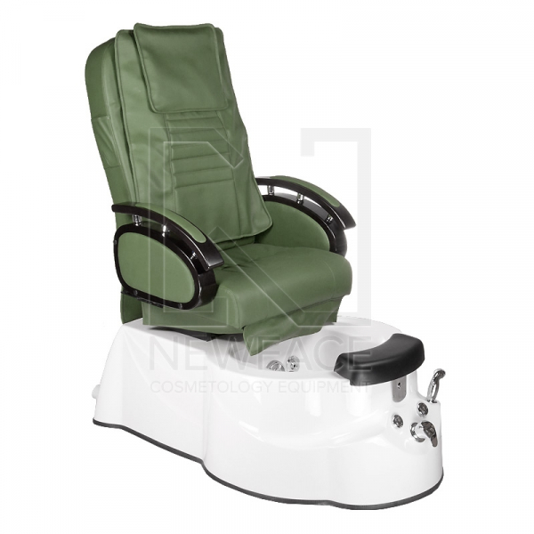 Fotel do pedicure z masażem BR-3820D Zielony #1