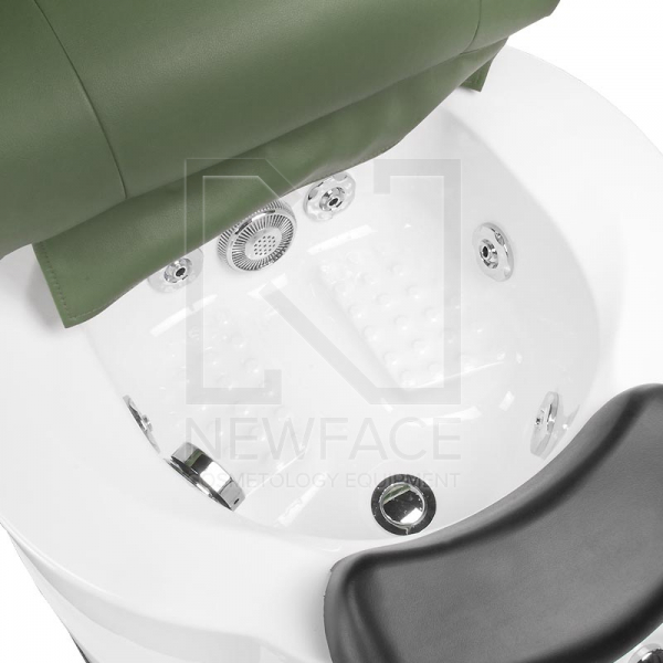 Fotel do pedicure z masażem BR-3820D Zielony #4